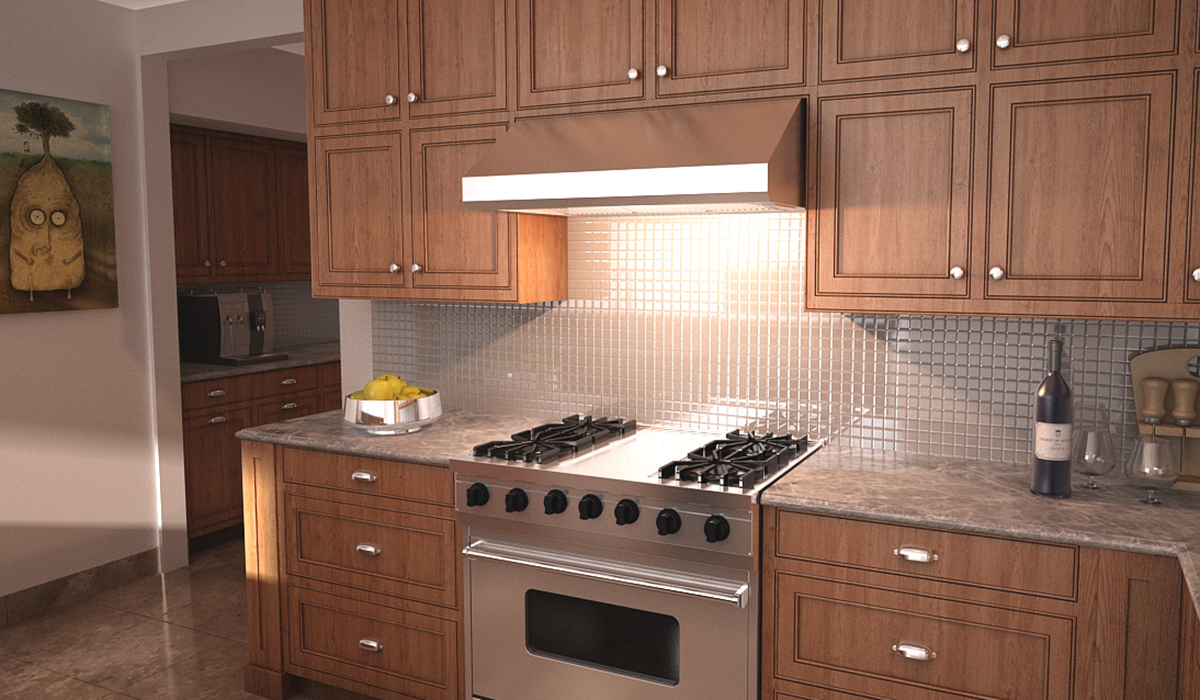 A Stylish Profesional Kitchen Wall Range Hood